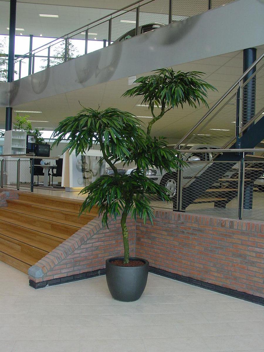 Deze Longifolium kunstplant wordt bij Kread'or op maat geproduceerd. Elk model en afmeting is mogelijk.