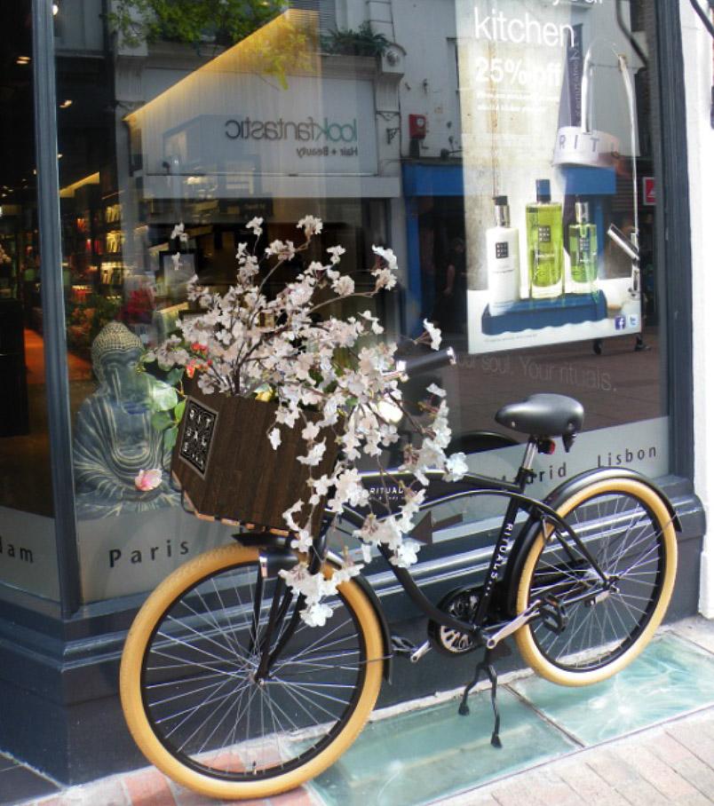 Rituals - fietskrat met bloesem
